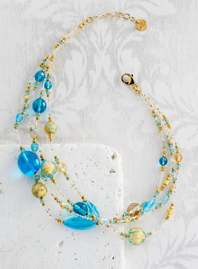 Venetian Twilight Glass Necklace