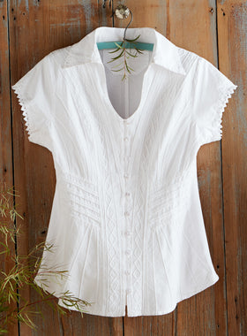 Peruvian Lily Short-sleeve Blouse