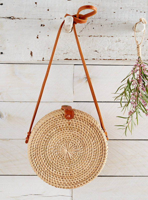 Balinese Rattan Basket Bag
