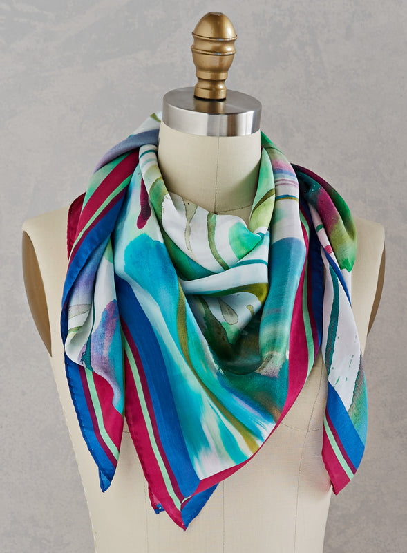 Northern Lights Silk Scarf