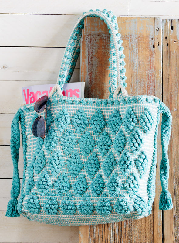 Diamond Dot Hand-loomed Carryall