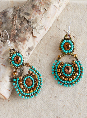 Guatemalan Lakeshore Beaded Earrings