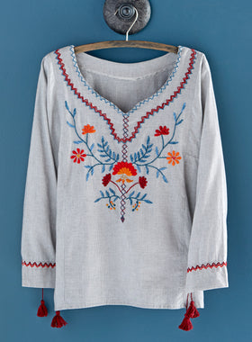 Wildflower Hand-embroidered Blouse