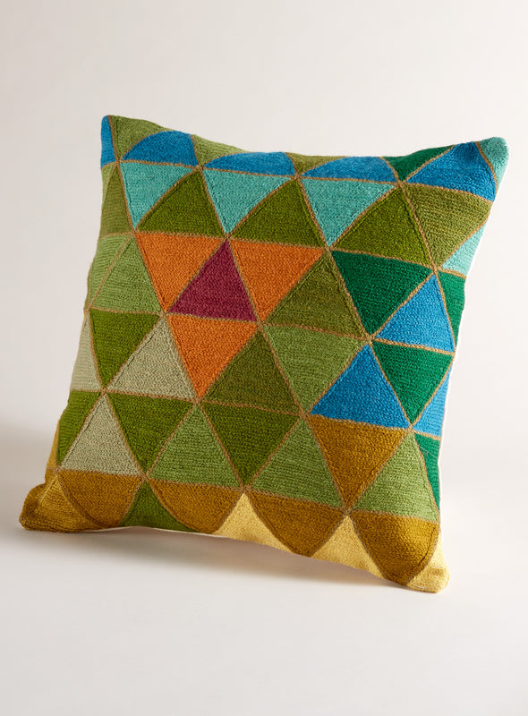 Prairie School Throw Pillow - Triangles