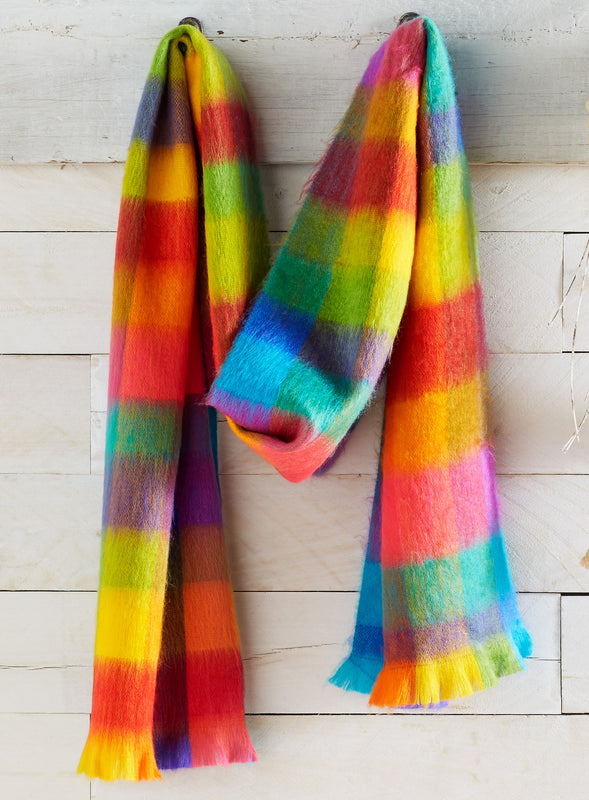 Rainbow Fleece Scarf