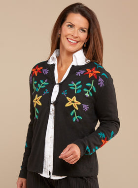 Mountain Flowers Reversible Cardigan