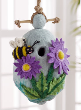 Buzz on Inn Felted Birdhouse