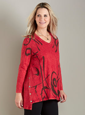 Red Letter Day Button Tunic