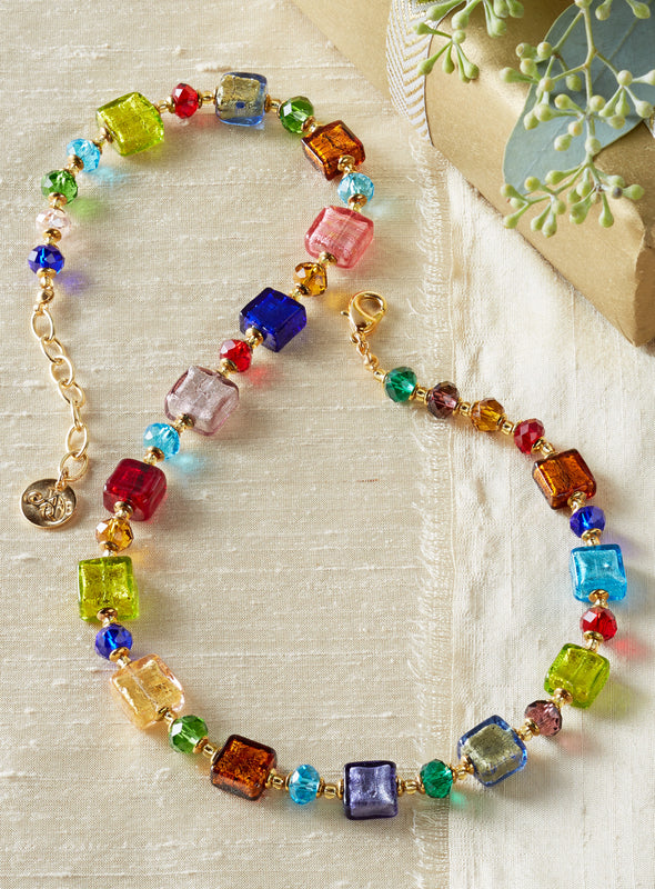 Treasure Box Venetian Glass Necklace