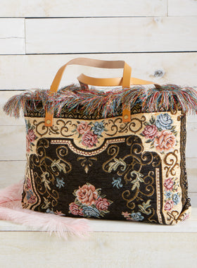 Boho Fringe Tapestry Bag