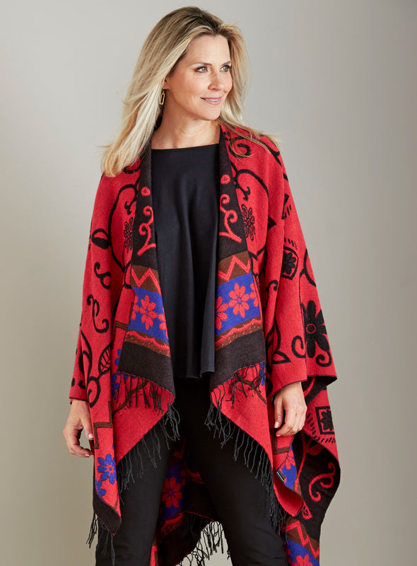 Zuni River Reversible Wrap