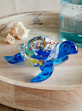 Murano Glass Sea Turtle Sculpture