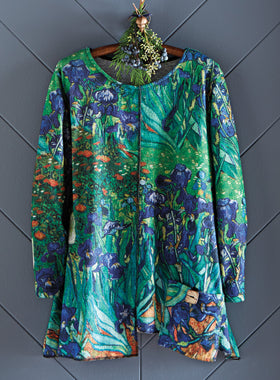 Iris Impressionist Pocket Top