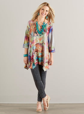 The Color of Music Short-Sleeve Tunic