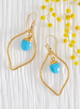 Flame of Protection Turquoise Earrings