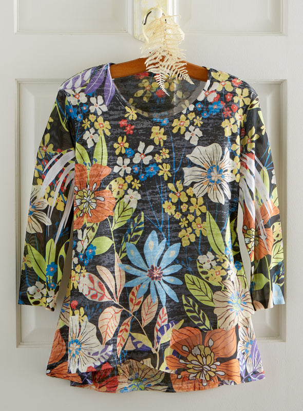 Night Blooming Garden Tunic