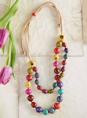 Pambil Palm Rainbow Necklace