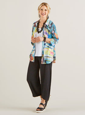 Ocean Park Burnout Blouse