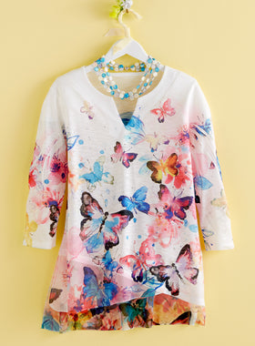 Social Butterfly High-Low Tunic