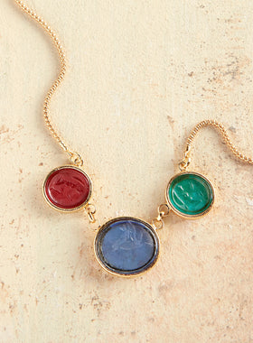 Tuscan Intaglio Glass Necklace
