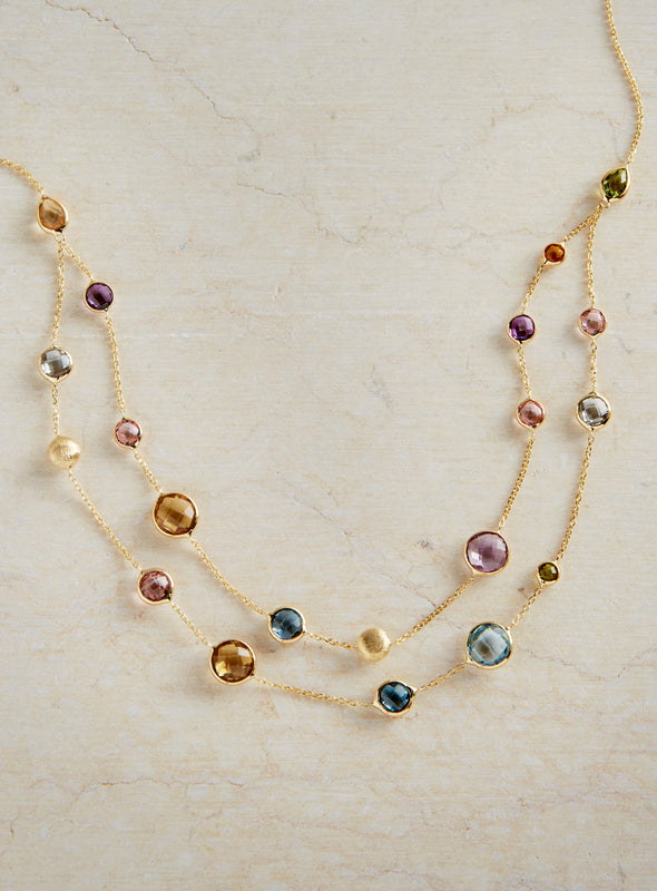 Vicenza 14-Karat Gold Multi-stone Necklace