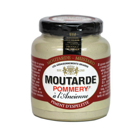 French Mustard with Espelette Pepper by Pommery 3.5 oz-Pommery-Le Tablier Bleu | Online French Supermaket