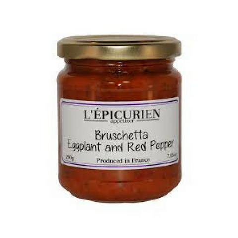 Epicurien Eggplant & Red Pepper Bruschetta 7.4 oz Best Price-Epicurien-Le Tablier Bleu | Online French Supermaket