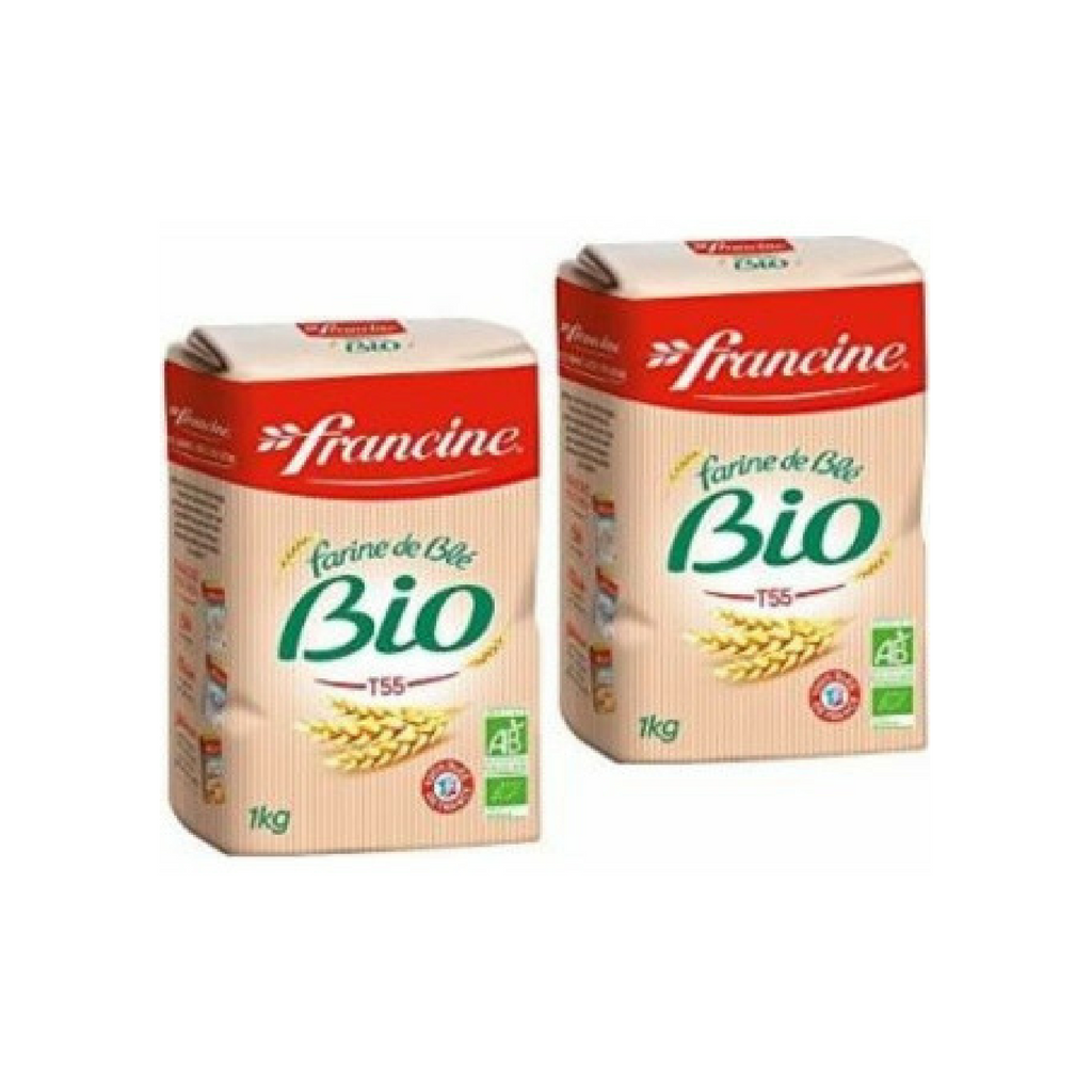 Francine Organic French Wheat Flour 2.2 lbs. (1kg)-Francine-Le Tablier Bleu | Online French Supermaket