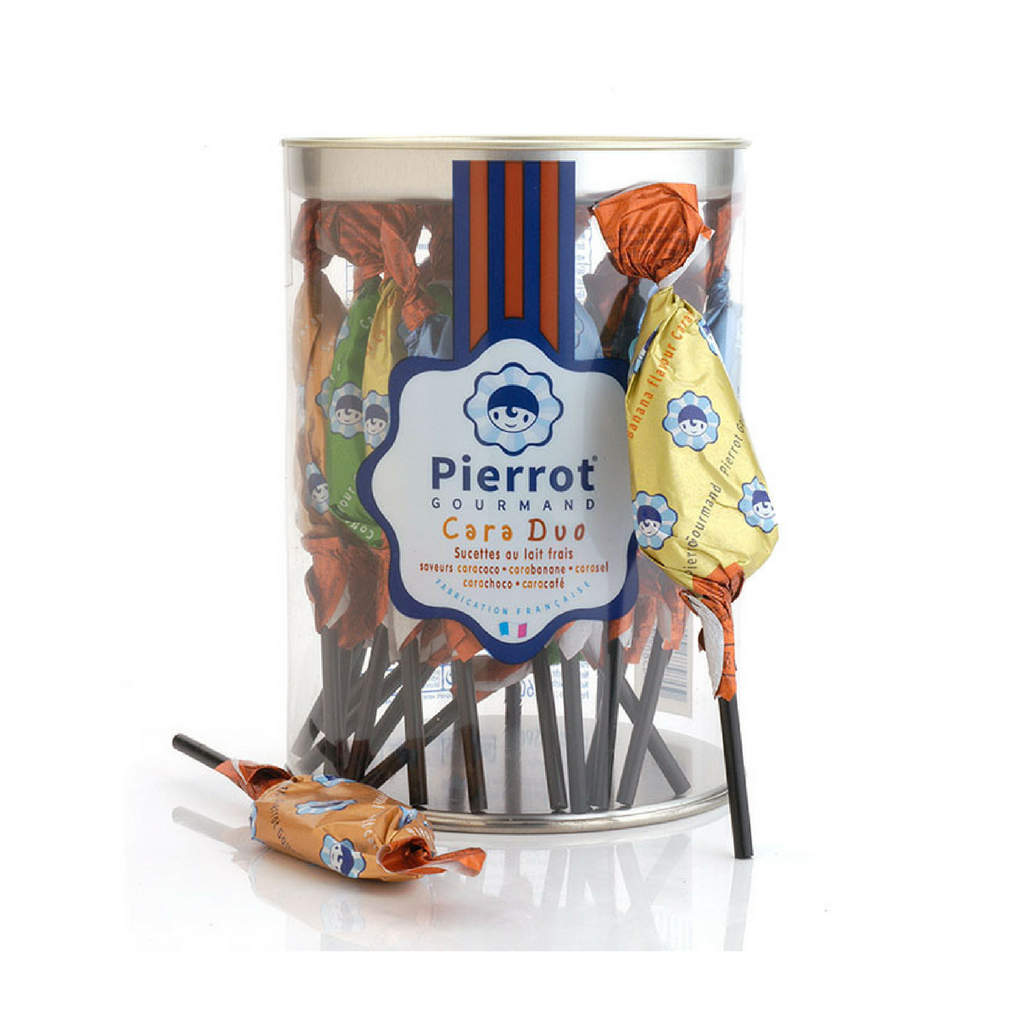 Pierrot Gourmand Caramel Duo Lollipops 4.5 oz. (130g) Best Price-Pierrot Gourmand-Le Tablier Bleu | Online French Supermaket