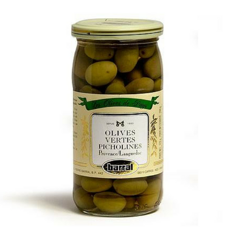 Barral · Green Picholine olives · 200g (7 oz)-FRENCH ÉPICERIE-Barral-Le Tablier Bleu | Online French Supermaket