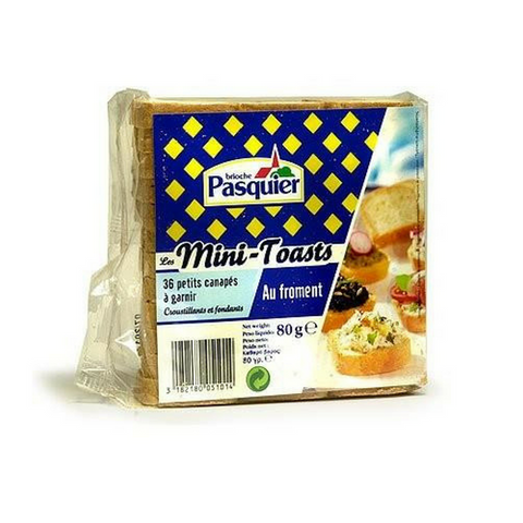 Brioche Pasquier Minitoasts - French Hors d'Oeuvre Toasts-FRENCH ÉPICERIE-Brioche Pasquier-Le Tablier Bleu | Online French Supermaket
