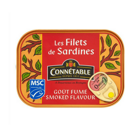 Connétable · Sardine fillets smoked flavor · 100g (3.5 oz)-FOIE GRAS & TRUFFLES-Connetable-Le Tablier Bleu | Online French Supermaket
