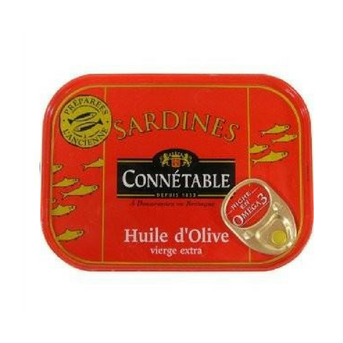 Connétable · Whole sardines in olive oil · 115g (4.1 oz)-FOIE GRAS & TRUFFLES-Connetable-Le Tablier Bleu | Online French Supermaket