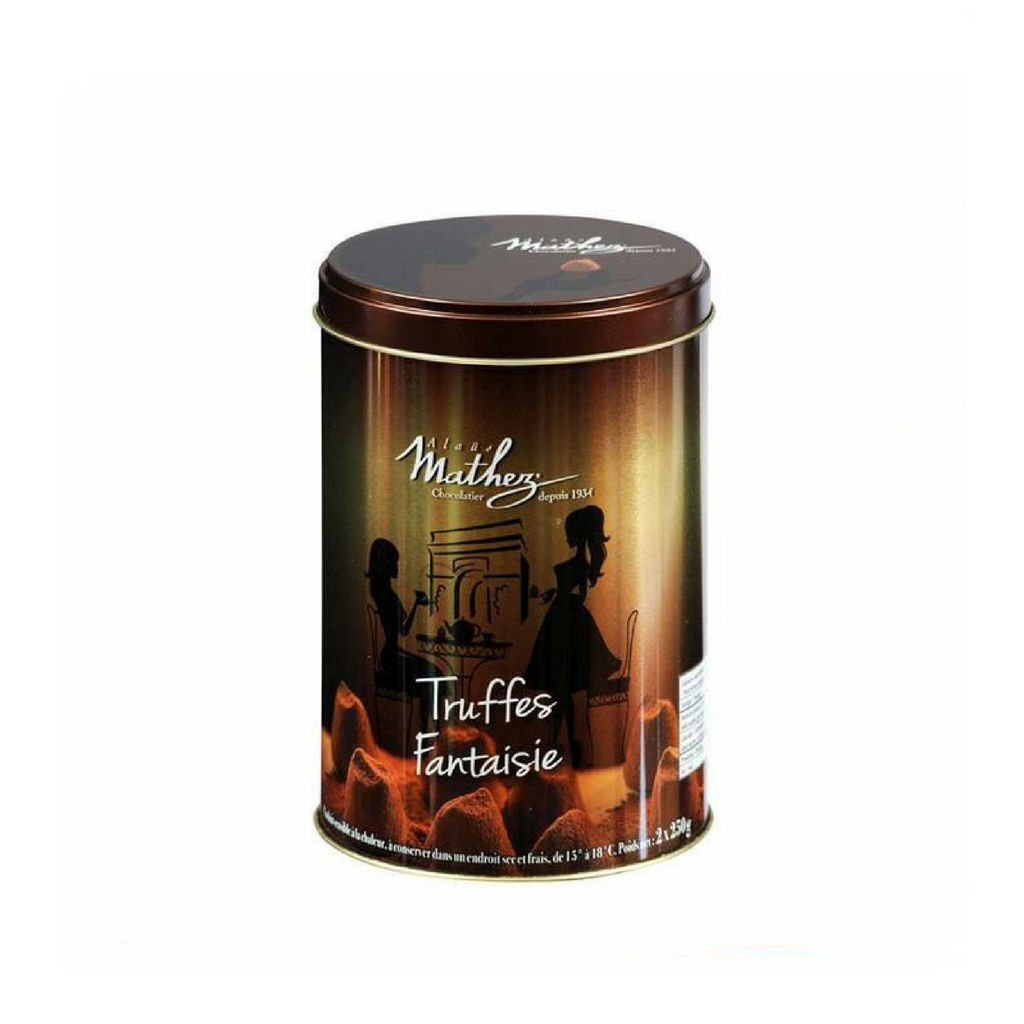 French Chocolate Truffle in Gold Tin by Mathez 17.6 oz-Mathez-Le Tablier Bleu | Online French Supermaket