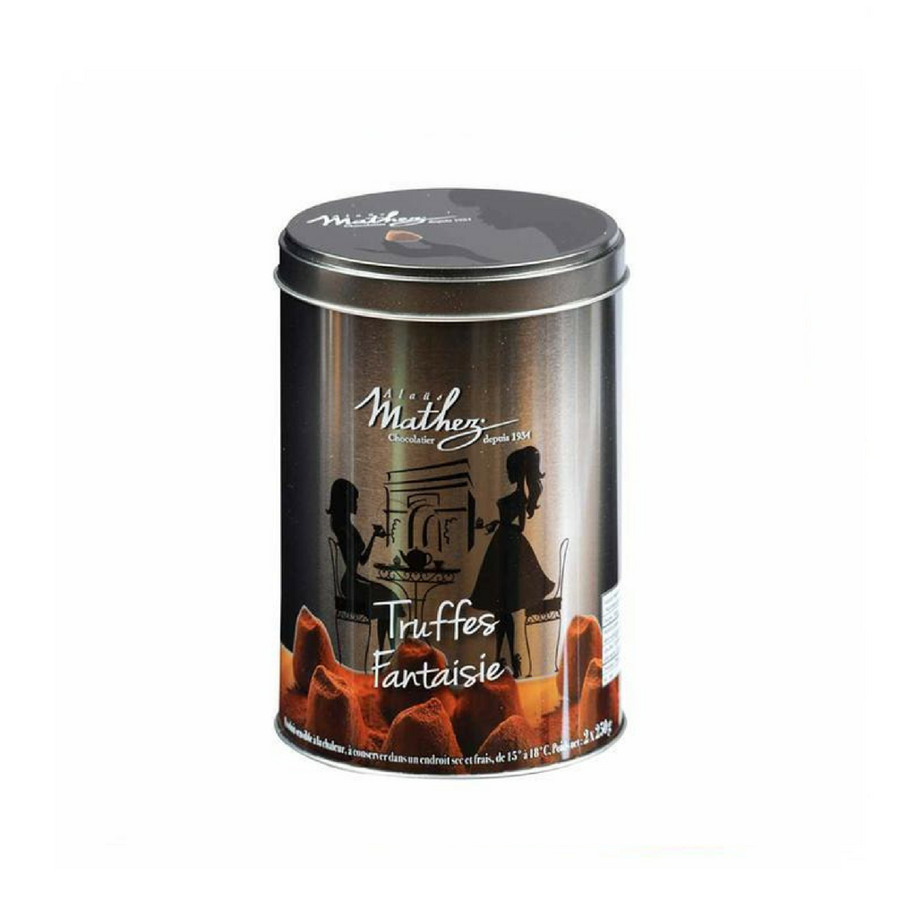 French Chocolate Truffle in Silver Tin by Mathez 17.6 oz-Mathez-Le Tablier Bleu | Online French Supermaket