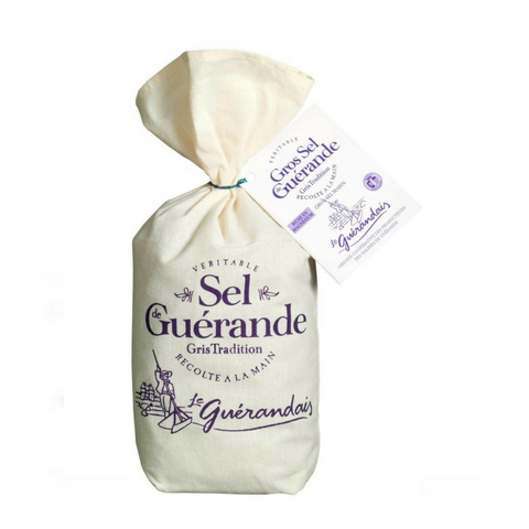 Le Guérandais · Coarse Grey Sea Salt from Guérande, linen bag · 750g (26.5 oz)-COOKING & BAKING-Le Guerandais-Le Tablier Bleu | Online French Supermaket