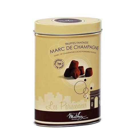 Marc de Champagne Cacao Powdered Truffle by Mathez 7.1 oz-Mathez-Le Tablier Bleu | Online French Supermaket
