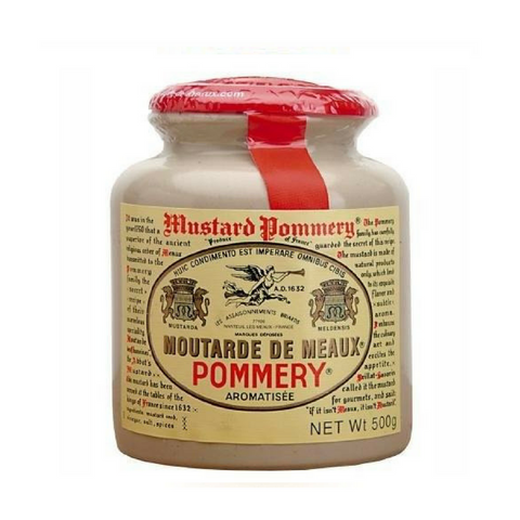Moutarde de Meaux Mustard, Pommery - 17.6 oz jar-FRENCH ÉPICERIE-Pommery-Le Tablier Bleu | Online French Supermaket