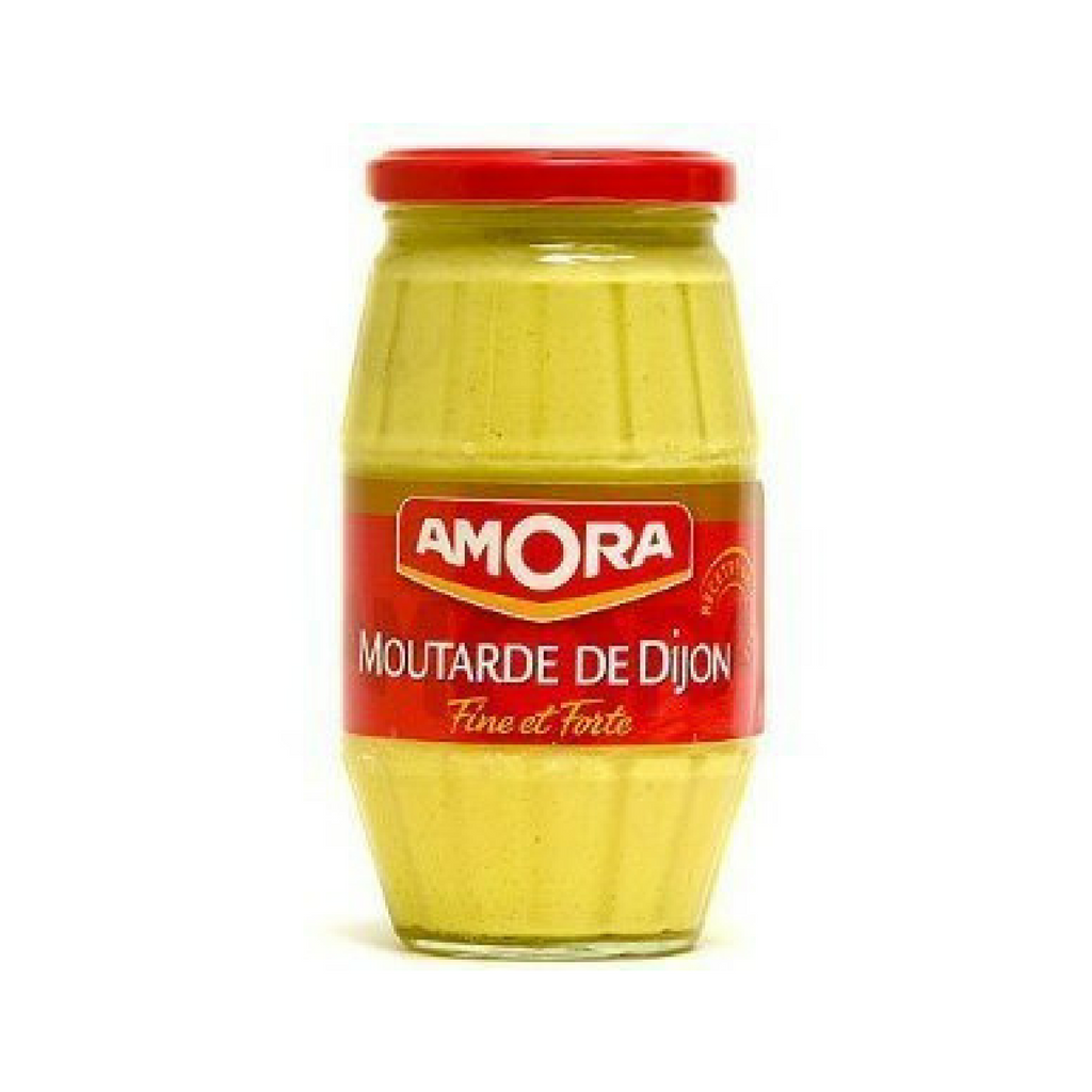 6 Pack Amora Large Jar Dijon Mustard-Amora-Le Tablier Bleu | Online French Supermaket