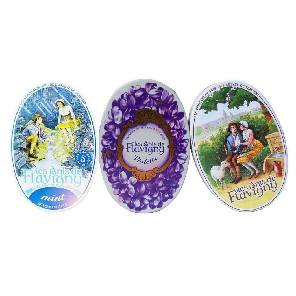 Anis de Flavigny Violet, Anise and Mint Pastilles (3 Tins) Best Price-Anis de Flavigny-Le Tablier Bleu | Online French Supermaket