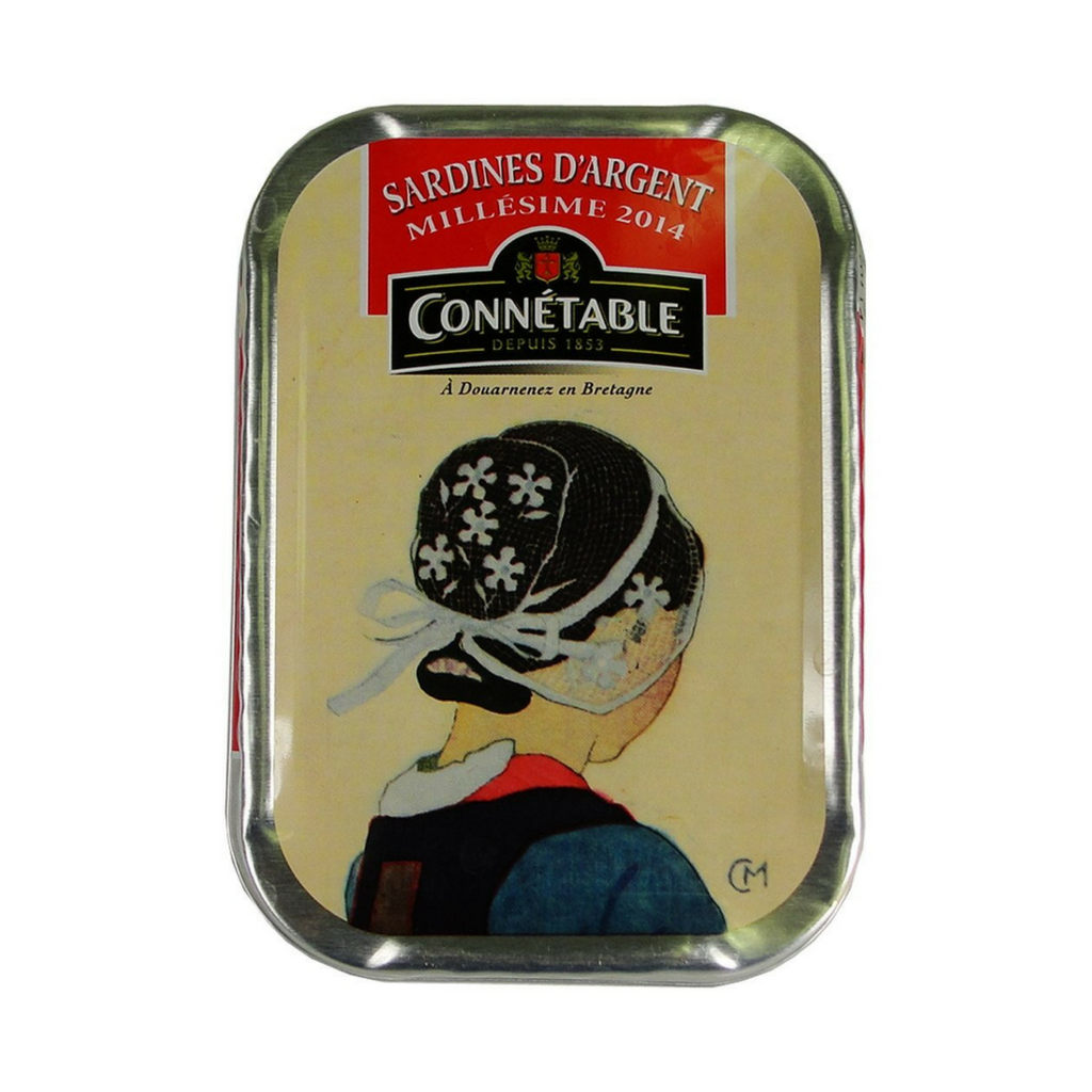 Connetable Sardines in Extra Virgin Olive Oil Millesime 2014 4.5 oz. (115g)-Connetable-Le Tablier Bleu | Online French Supermaket