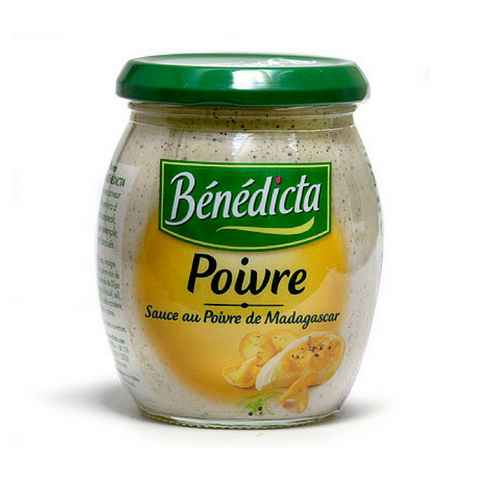 (3 PACK) Benedicta Peppercorn Sauce 9.1 oz. (260g) Best Price-Benedicta-Le Tablier Bleu | Online French Supermaket
