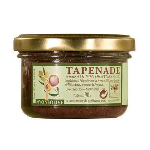 Nyonsolive · Black tapenade with Nyons olives AOC · 90g (3.2 oz)-FRENCH ÉPICERIE-Vignolis-Le Tablier Bleu | Online French Supermaket