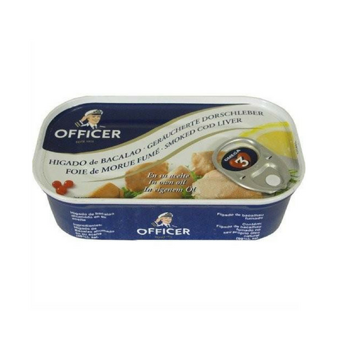 Officer · Smoked cod liver · 121g (4.26 oz)-FOIE GRAS & TRUFFLES-Officer-Le Tablier Bleu | Online French Supermaket