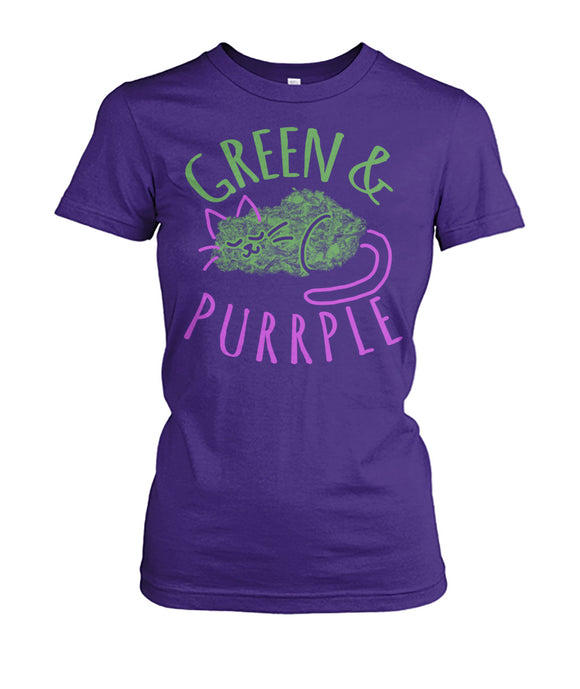 Purrple & Green Cat Tee