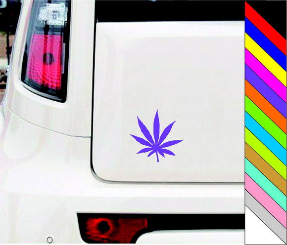 Matte Black Rasta Leaf Decals Wall Or Car Sticker