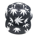 Rasta Glow In The Dark Leaf Weed Snapback
