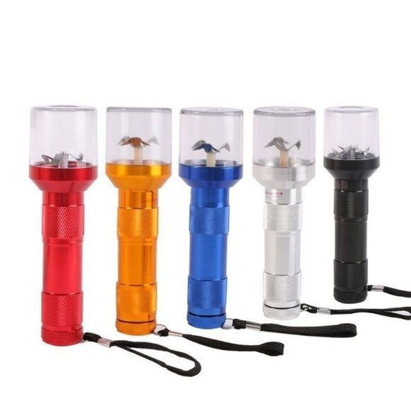 Electric Metal Grinder Herb Crusher With Built In Flashlight