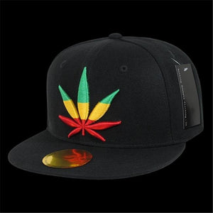 Multi-Colored Weed Leaf Snapback