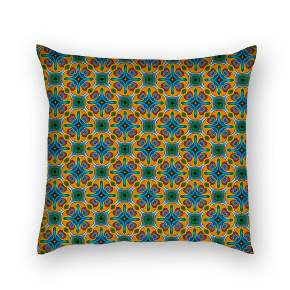 Psychedelic Square Pillow